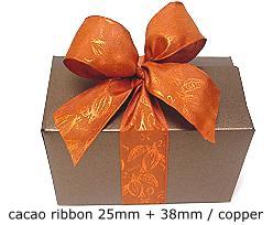 Ribbon Cacao 25mm/25mtr Copper
