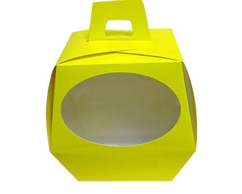 Easteregg box L no 4 jaune laque Window