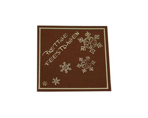 label x-mas prettige feestdagen brown with gold 500pcs