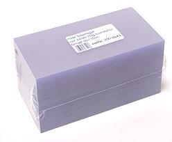 PVC sheet 115x60mm for ballotin 250gr / pack 200 pcs