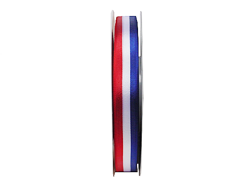 redwhiteblue ribbon 15mm/50mtr