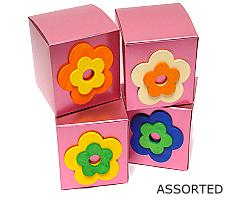 box with wooden flower ass. box  various