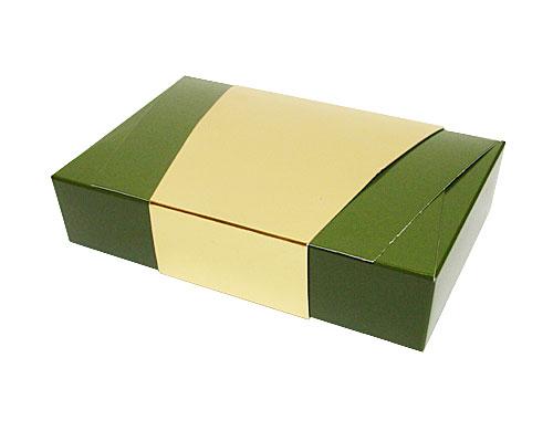 Ballotin enveloppe 184x117x35mm vert fôret laque