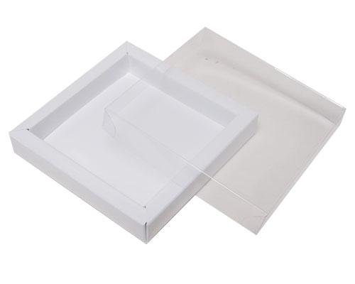 Windowbox 100x100x19mm chromolux white