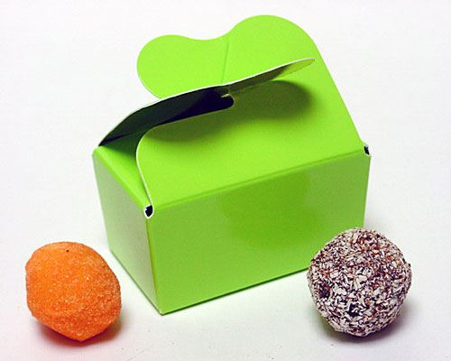 Box 2 choc butterfly closing vert pomme laque