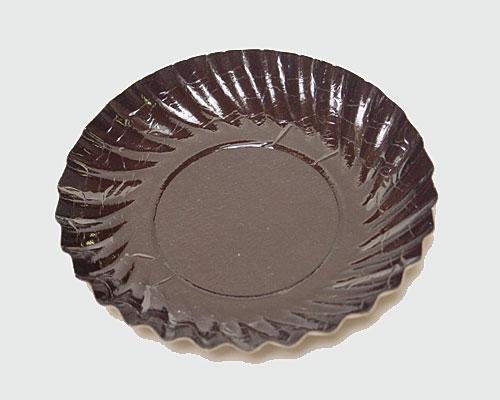 Bordje rond dia 88mm brown