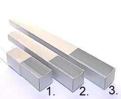 truffelbox 8 225x30x30mm silvertin