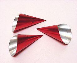 Alu Cones Large 1000 pcs/box Red