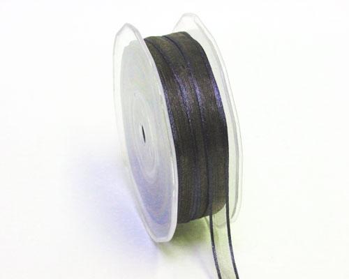 Organza satin edge 10mm/50mtr Anthracite
