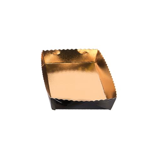 Dessert tray 190x120x35mm gold-black