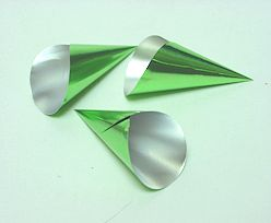 Alu Cones Large 1000 pcs/box Green