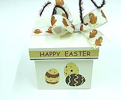 Happy Easter Box square wood