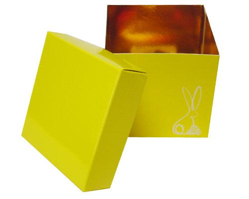Cubebox Bunny L100xW100x95mm Jaune laqué