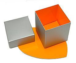 Cubebox appr. 375 gr. Duo Monaco silver-orange