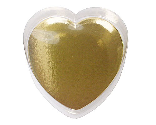 PVC Heartbox small with goldcarton L110xW110xH30mm