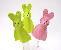 Egg warmer Rabbit ass. pink & green