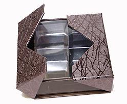 Box sqr 4 compartments bronztwist