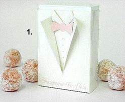 Champagne Truffels,  pink writing