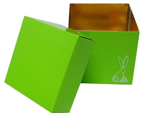 Cubebox Bunny L80xW80xH75mm Vert pomme laqué