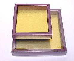 Windowbox 126x126x24mm interior aubergine
