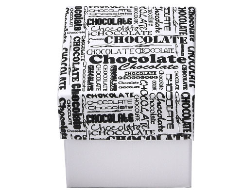 Cubebox 50x50x50mm chocolat white + printed lid white