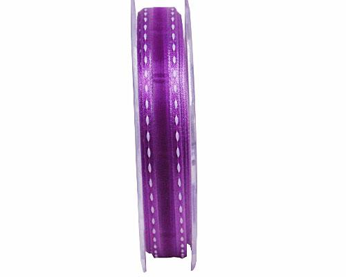 Stitched border 15mm/20mtr purple