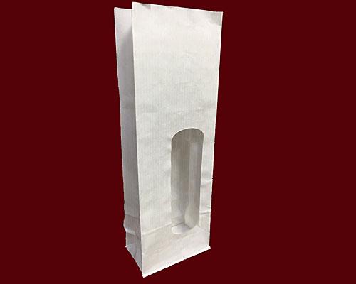Blockbag with window kraft white 80x50x240mm