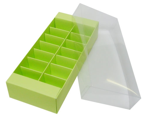 Macaron box 14 division pistache