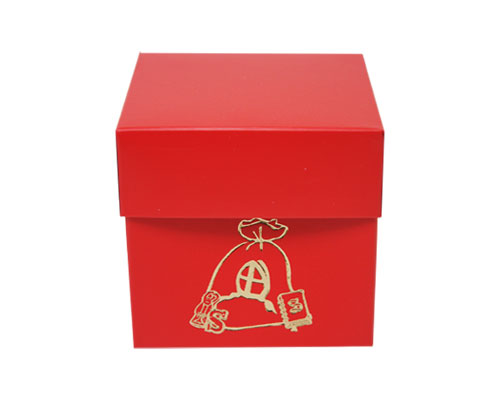 Cubebox Sint zak 80x80x75mm strawberry