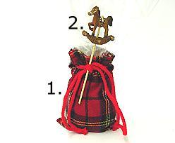 decoration for tartan bag