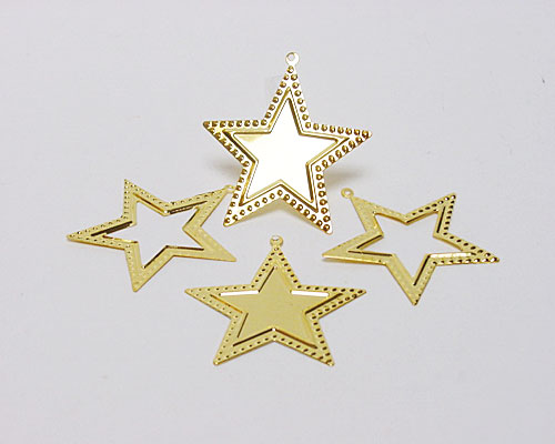 Christmas star metal gold