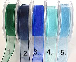 organza wired edge, royal blue