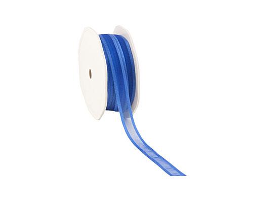 organza satin edge N medium blue