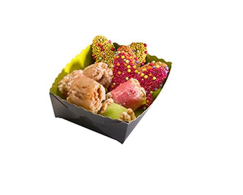 Dessert tray 100x75x35mm green-black