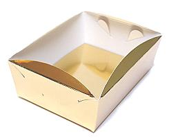 patisserie tray min. total quantity 600 pcs!/in shiny gold