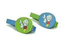 Rabbit Egg Peg Bluegreen set of 6