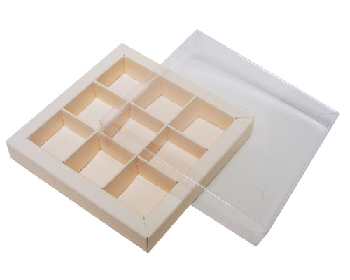 Windowbox 100x100x19mm 9 division seashell