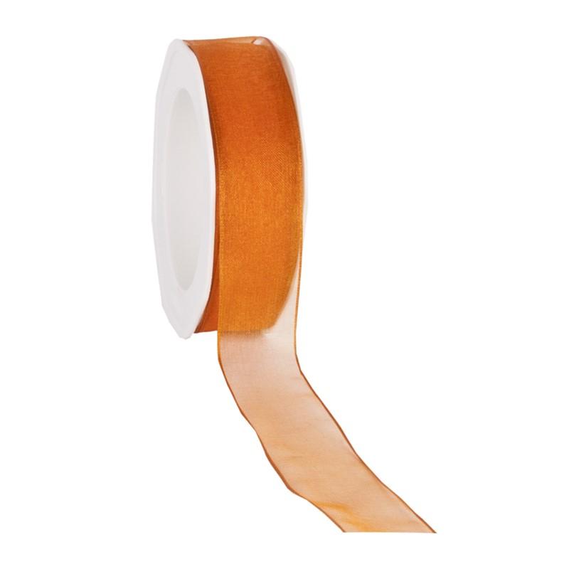 organza N 34 wired edge orange