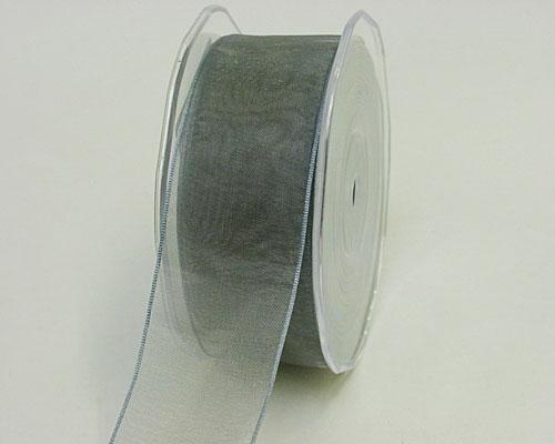 organza wired edge grey