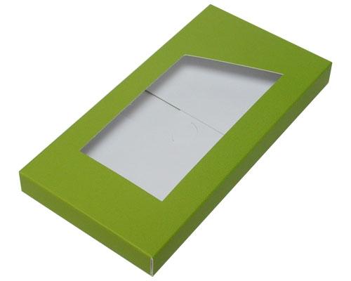 Box for chocolate bar kiwi green