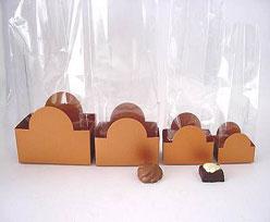 halfmoon tray coppertin L82xW50xH62mm