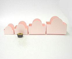 halfmoon tray Pink L82xW50xH62mm
