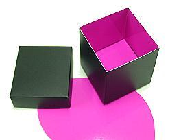 Cubebox appr. 250 gr. Duo Paris black-fuchsia