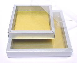 Windowbox 126x126x24mm interior silvertin