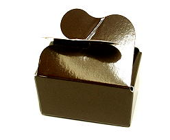 Box 2 choc butterfly closing brown laque