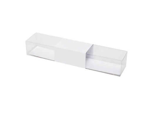 PVC L150xW30xH25mm white with sleeve