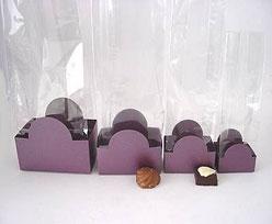 halfmoon tray aubergine L100xW62xH75mm