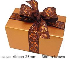 Ribbon Cacao 38mm/25mtr Brown