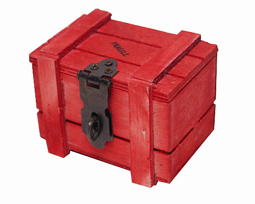 Crate Wood small, red
