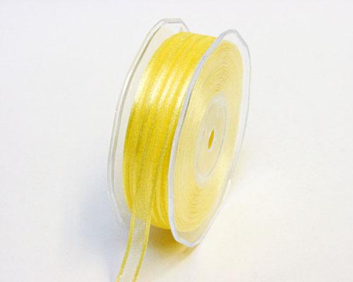 organza satin edge, light yellow